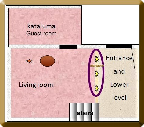 Alternate floor plan of Jewish home
