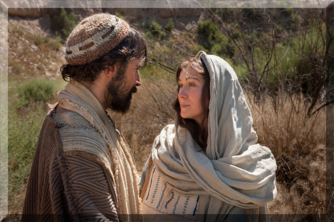 Mary & Joseph travel together to Bethlehem
