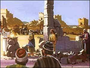 Sacrifices offered even before the foundation of the temple was laid.