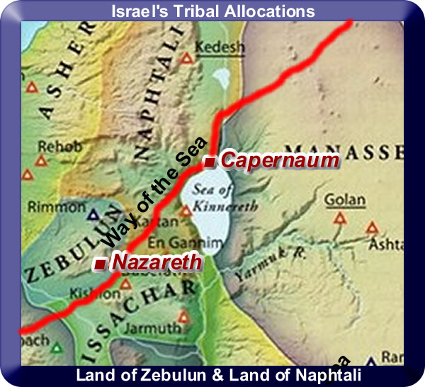 "Map showing the ""Way of the Sea"" travelling through Capernaum"
