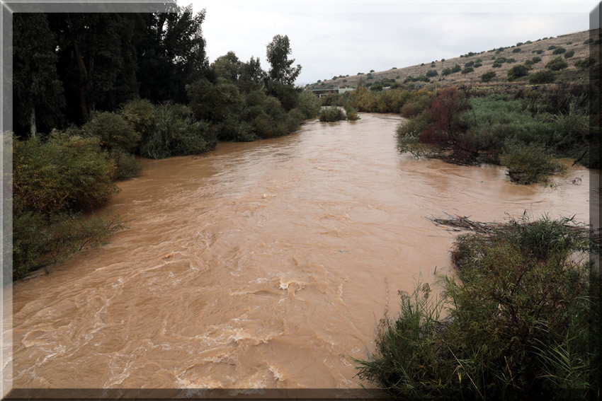 The Jordan River after heavy winter rains